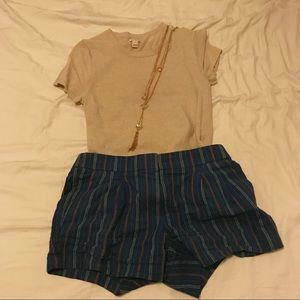 J Crew Linen Boho Style Shorts